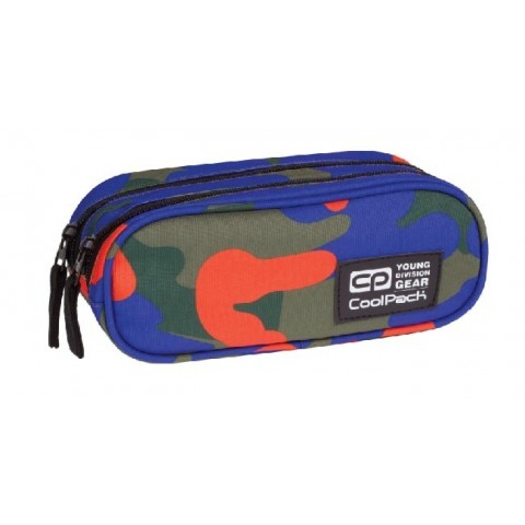 Saszetka podwójna CoolPack CLEVER CAMOUFLAGE TANGERINE CP 878
