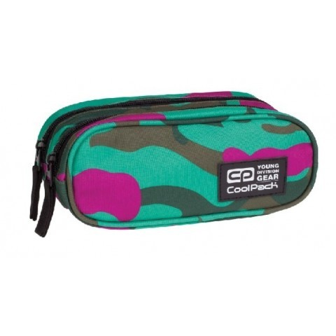 Saszetka podwójna CoolPack CLEVER CAMOUFLAGE EMERALD CP 869