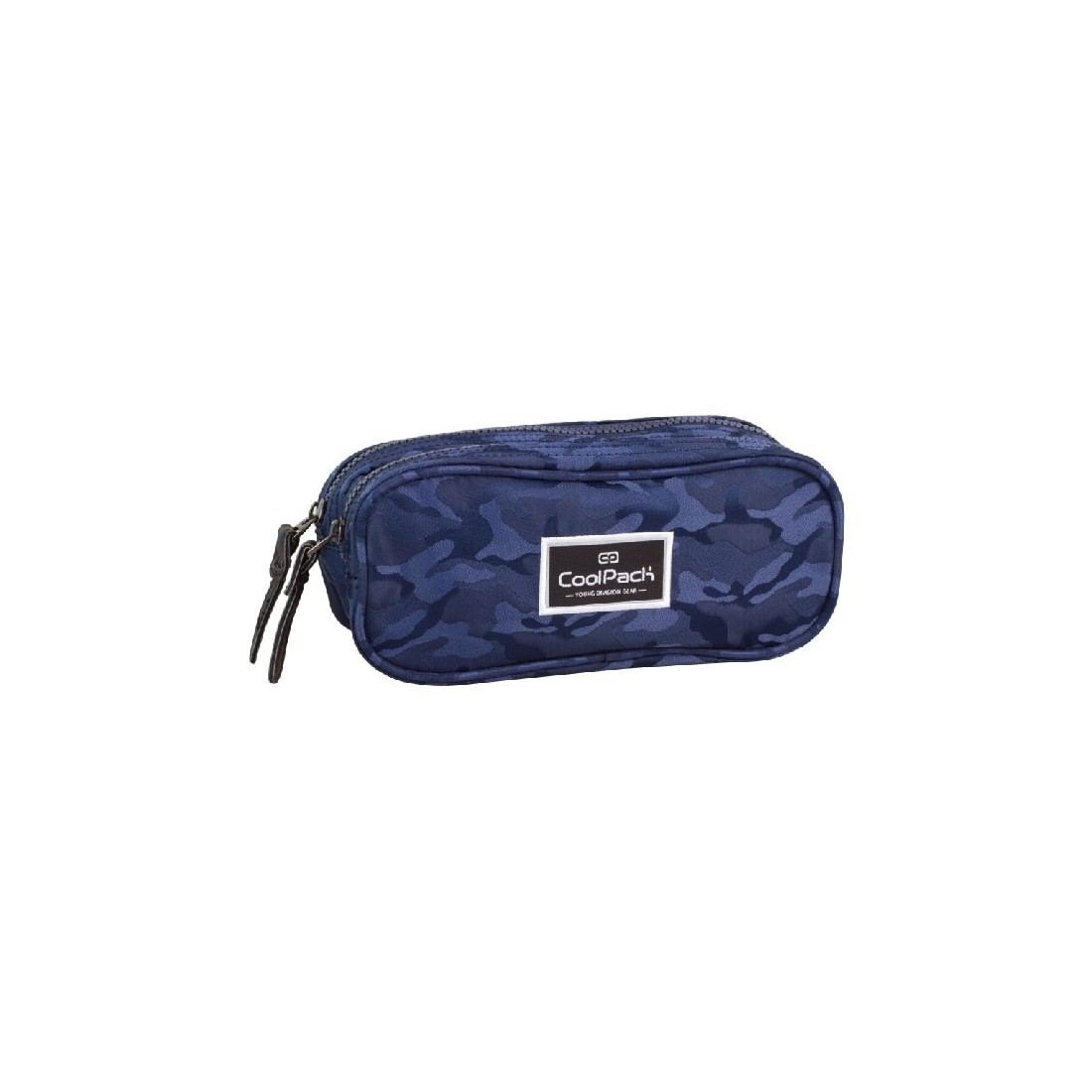 Saszetka podwójna CoolPack CLEVER JACQUARD ARMY BLUE CP 717 - plecak-tornister.pl