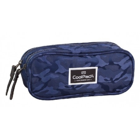 Saszetka podwójna CoolPack CLEVER JACQUARD ARMY BLUE CP 717