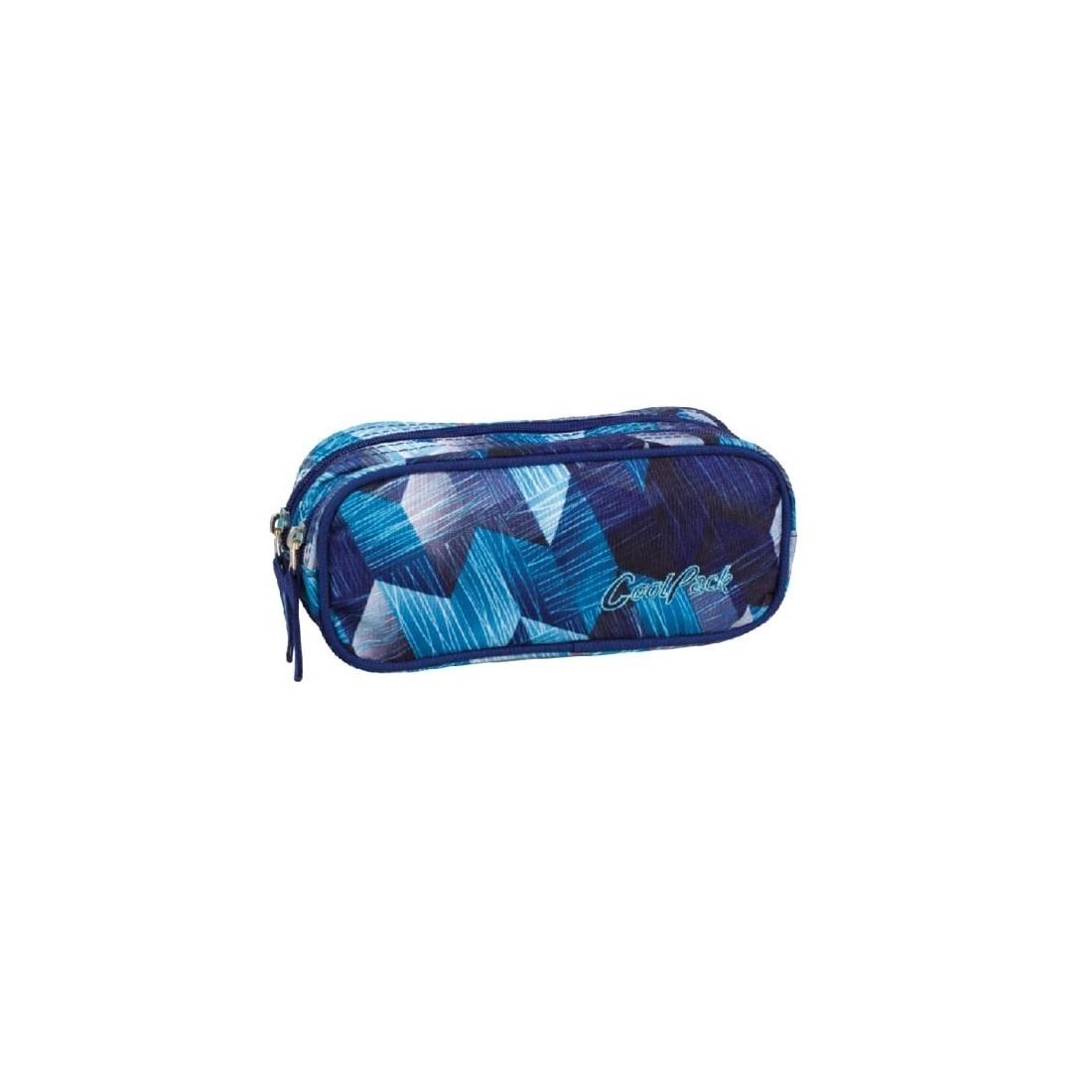 Saszetka podwójna CoolPack CLEVER FROZEN BLUE CP 640 - plecak-tornister.pl