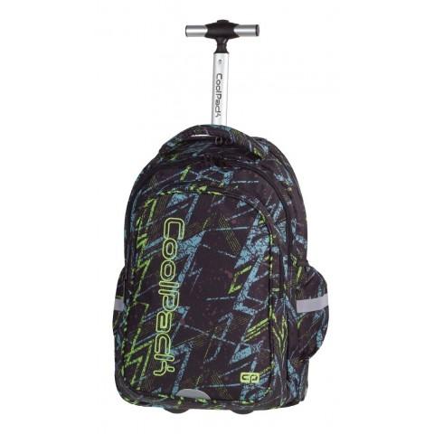 Plecak na kółkach CoolPack CP JUNIOR LIGHTNING 761 czarny w błyskawice dla chłopca