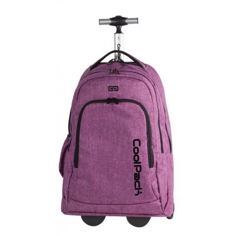 Plecak na kółkach dla dorosłych CoolPack CP SUMMIT Snow Purple 851 fioletowy duży