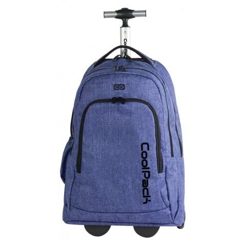 Duży plecak na kółkach CoolPack CP SUMMIT snow BLUE niebieski - 36 litrów - plecak dla studenta, walizka dla podróżnika