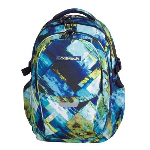Plecak młodzieżowy CoolPack CP - 4 przegrody FACTOR BLUE MARBLE 997 niebiesko-zielone wzory