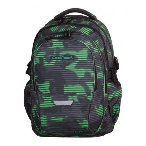 Plecak młodzieżowy CoolPack CP - 4 przegrody FACTOR GREEN HAZE 993 zielono-czarna mgła