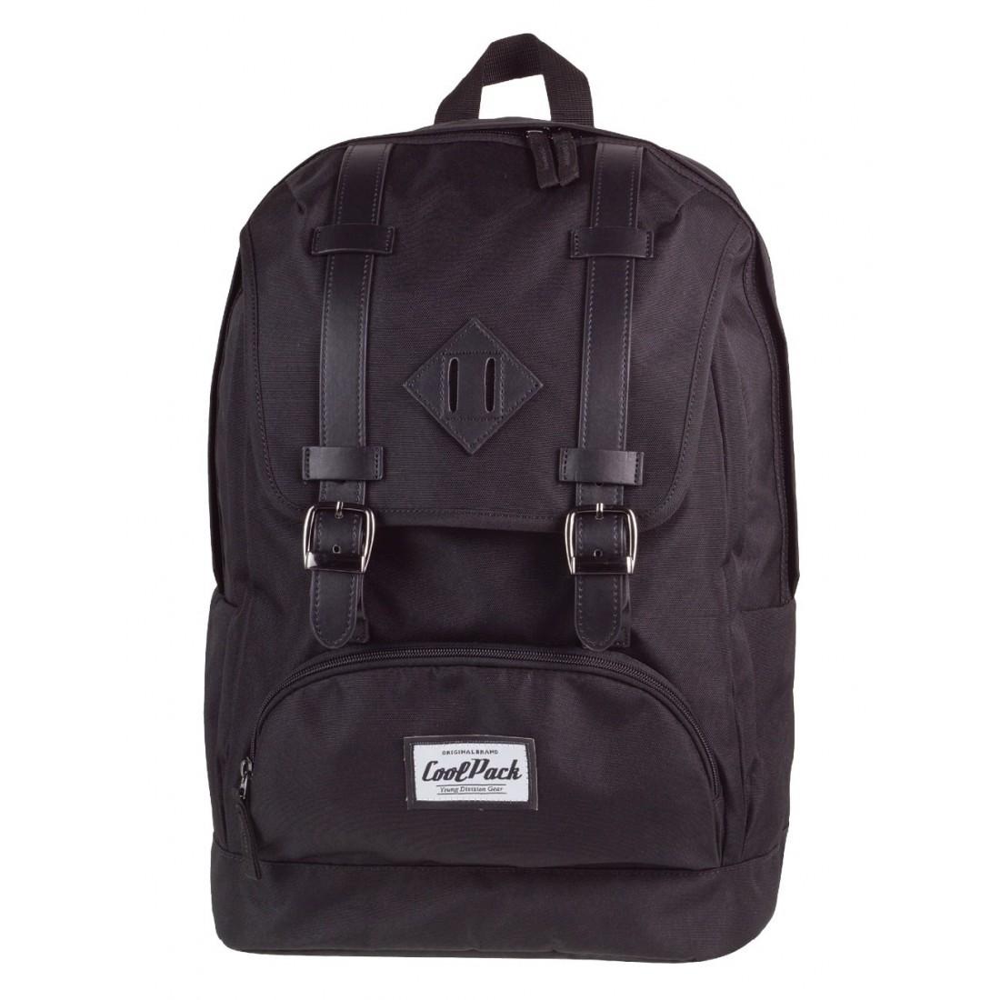 bf2e342915f55 Miejski plecak CoolPack vintage City 1020 Black dla chłopaka ...