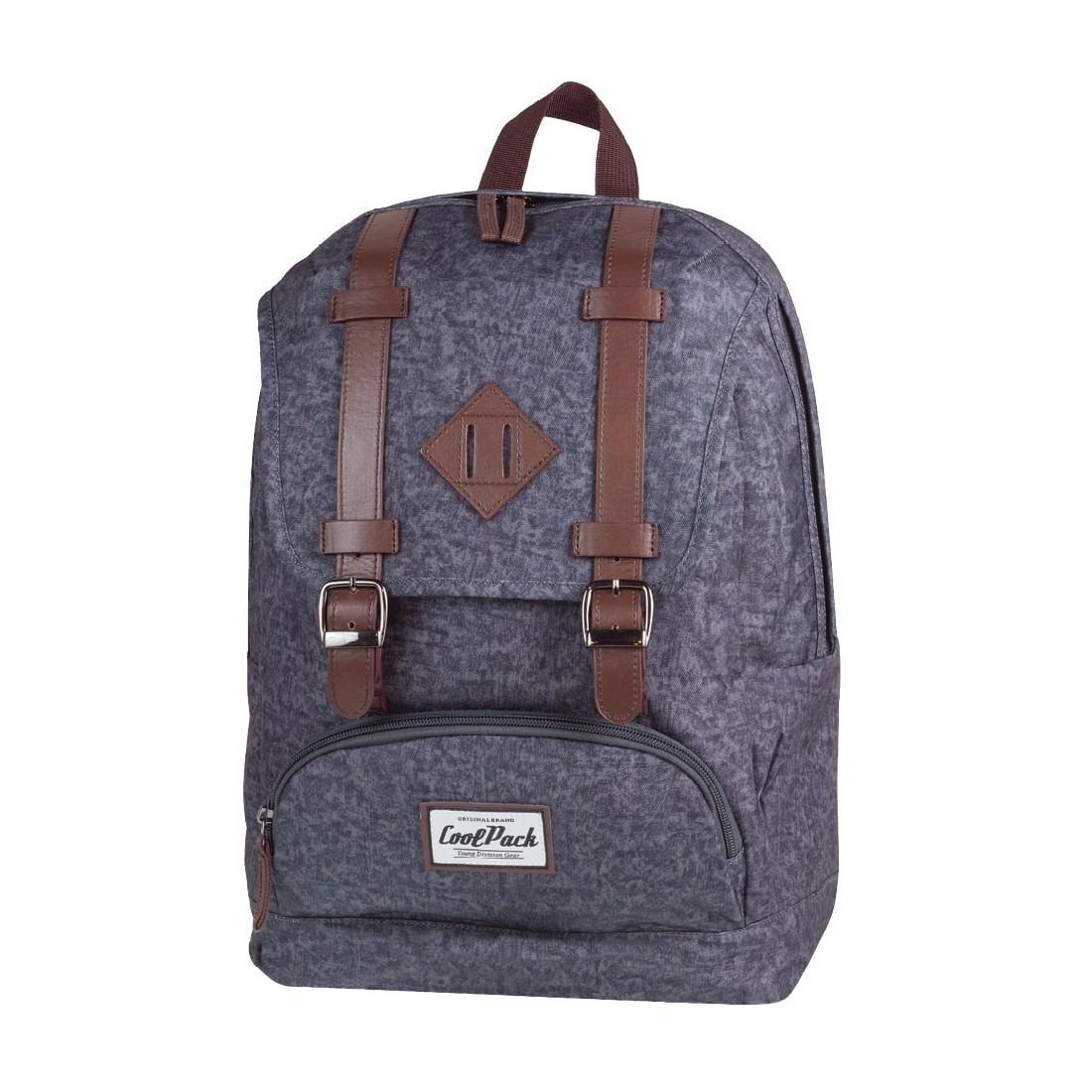 6b9d55b098588 Miejski plecak CoolPack vintage City 1021 Grey dla dziewczyny ...