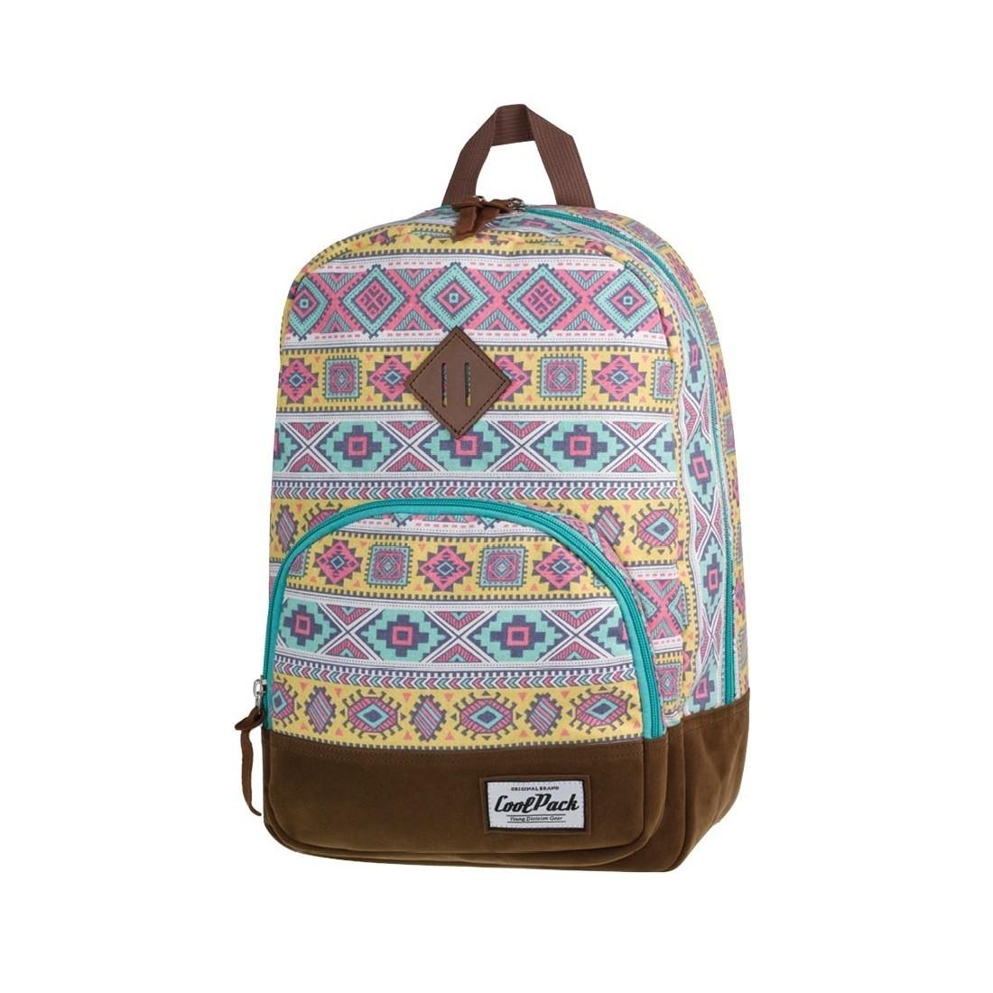 ed5a80e8cd049 Plecak miejski CoolPack CP retro kolorowy Aztec CLASSIC AZTEC 1011 ...