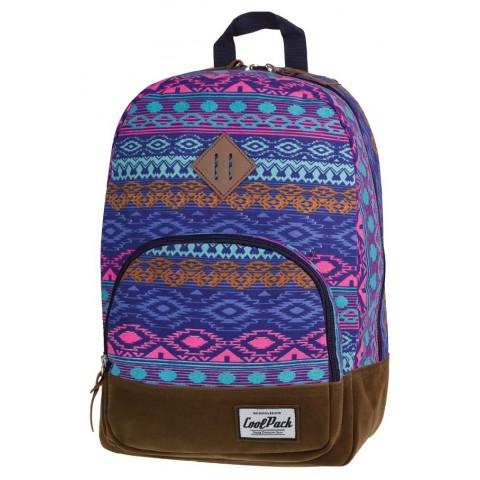 Plecak miejski CoolPack CP aztec niebieski CLASSIC BLUE TRIBAL 1014