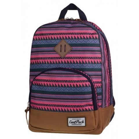 Plecak miejski CoolPack CP w różowe paski CLASSIC SAHARA 1012