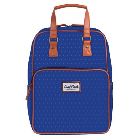 Plecak miejski CoolPack CP niebieskie kropki CUBIC vintage BLUE DOTS 1034