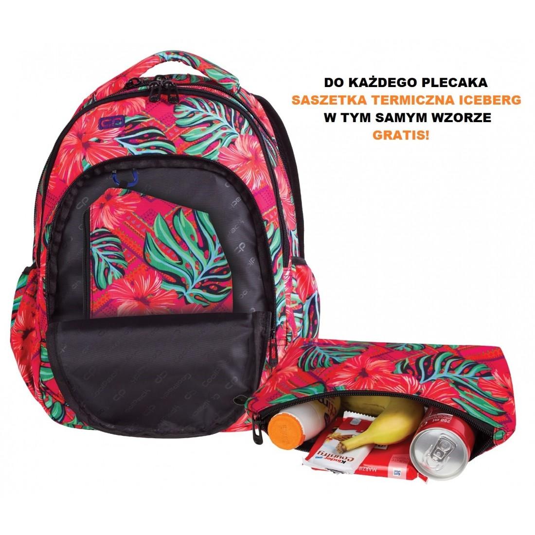 a5287e127721f ... Plecak dla pierwszoklasisty CoolPack CP PRIME CARIBBEAN BEACH 1062  egzotyczne kwiaty ...