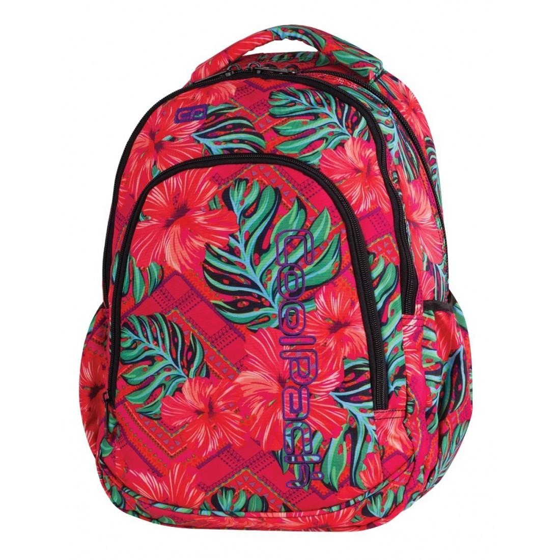 7b746b90da78b Plecak dla pierwszoklasisty CoolPack CP PRIME CARIBBEAN BEACH 1062  egzotyczne kwiaty