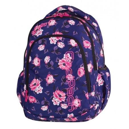 d295b13753ac9 Plecak szkolny dla pierwszoklasisty CoolPack CP PRIME ROSE GARDEN granatowy  w róże - 1058 + GRATIS