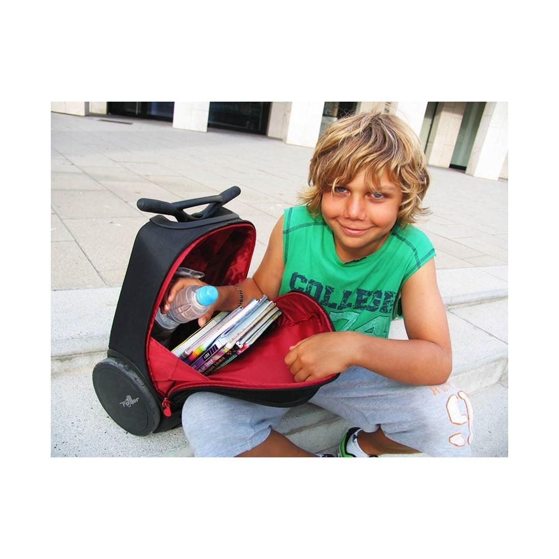 Plecak szkolny na kółkach bez szelek Roller Labirynt dla chłopaka. - plecak-tornister.pl