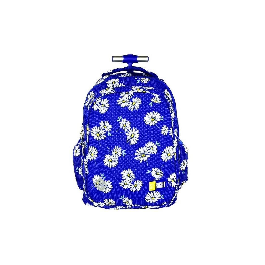 b1e1cd3288a46 Plecak szkolny na kółkach St.Right Daises dla dziewczynki - plecak -tornister.pl
