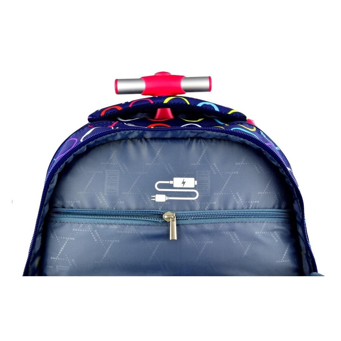 e699b55053e65 Plecak szkolny na kółkach St.Right Hoops dla dziewczynki - plecak -tornister.pl
