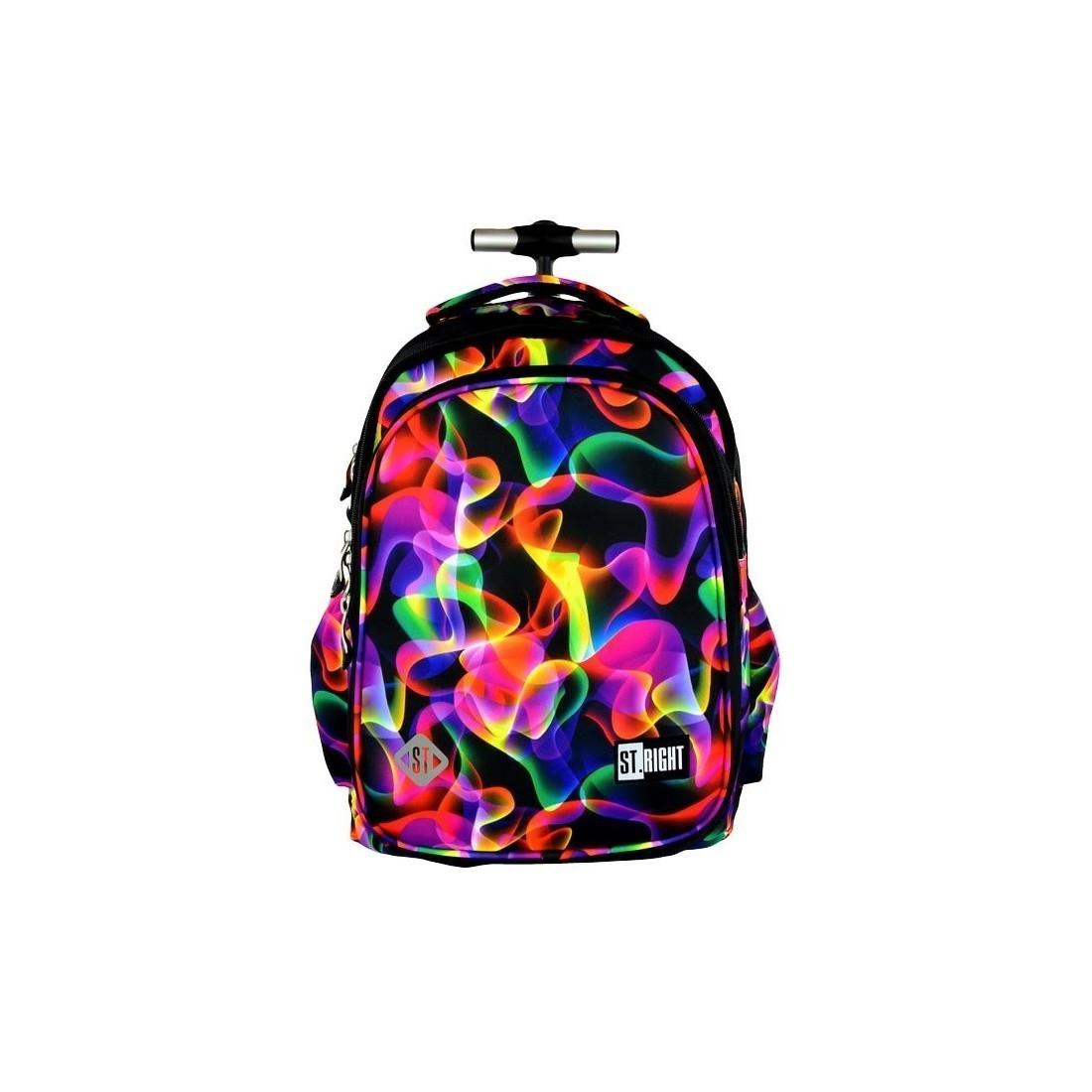 Plecak na kółkach ST.RIGHT ILLUSION kolorowe fale