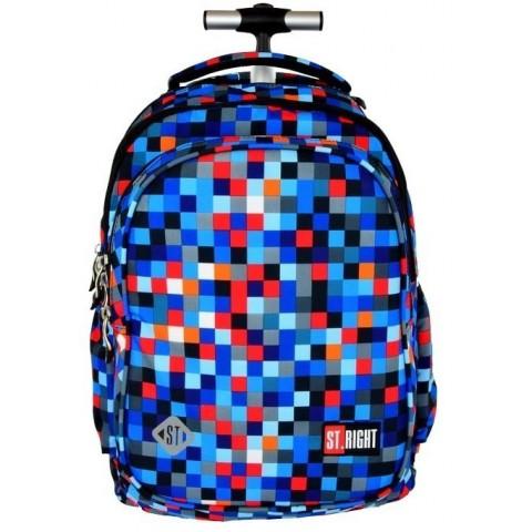 Plecak na kółkach ST.RIGHT PIXELMANIA BLUE niebieskie piksele
