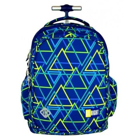Plecak na kółkach ST.RIGHT KALEIDOSCOPE w trójkąty
