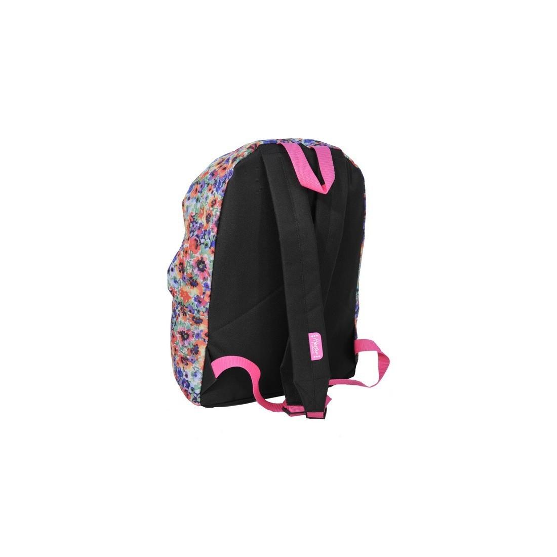 Plecak młodzieżowy w kolorowe kwiaty - plecak-tornister.pl