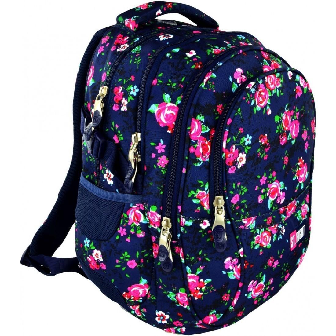 f220dc18eaa0e Plecak szkolny na laptop 01 ST.RIGHT NIGHT ROSE GARDEN dla ...