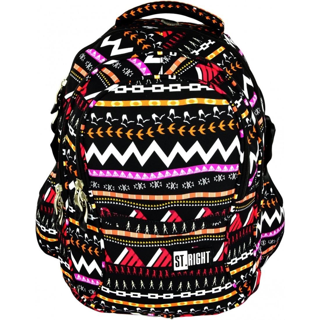 f92e4de0e778c Plecak szkolny na laptop 01 ST.RIGHT ZIG ZAG dla dziewczynki ...