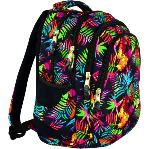 Plecak młodzieżowy 06 ST.RIGHT TROPICAL ISLAND tropikalne liście
