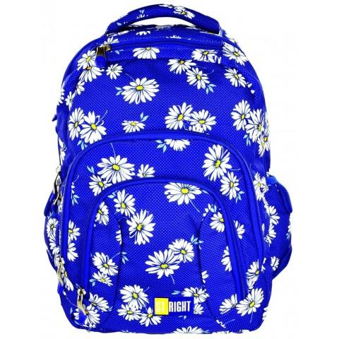 Plecak młodzieżowy 25 ST.RIGHT DAISIES niebieski w stokrotki