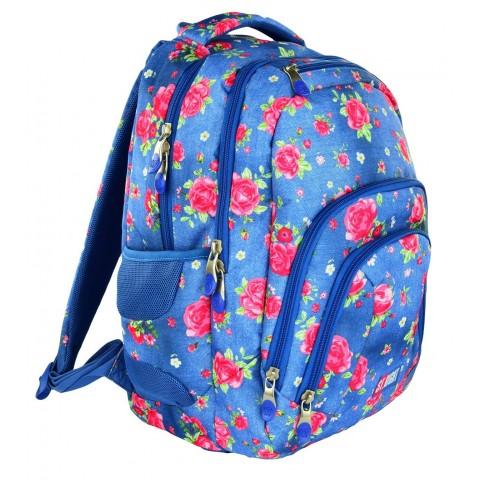 Plecak młodzieżowy 25 ST.RIGHT GARDEN niebieski w róże
