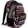Plecak młodzieżowy 23 ST.RIGHT ZIG ZAG czarny w zygzaki