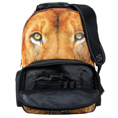 Plecak Młodzieżowy Szkolny FULL PRINT PHOTO ANIMAL LEW