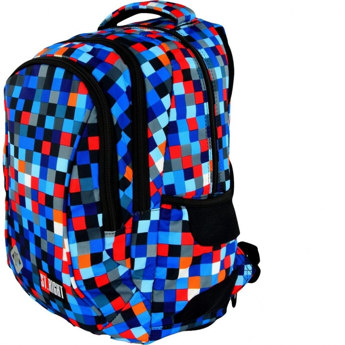 b9f72ede2a71d Plecak do pierwszej klasy 26 ST.RIGHT PIXELMANIA BLUE niebieskie piksele