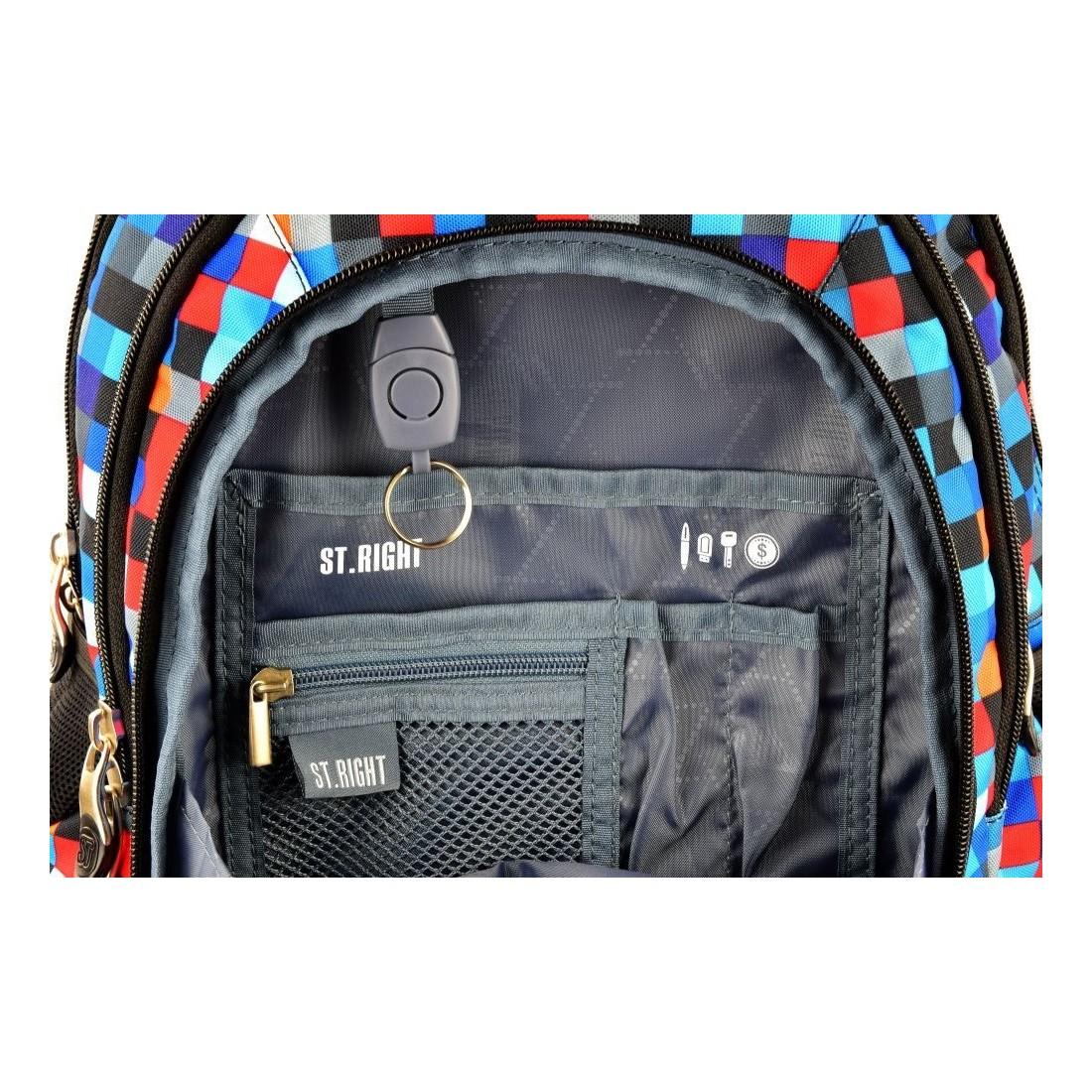 Plecak młodzieżowy 04 ST.RIGHT PIXELMANIA BLUE niebieskie piksele