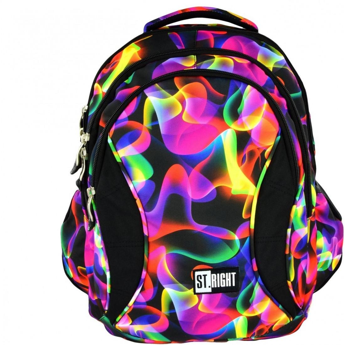 d273378d9a9cc Plecak szkolny 02 ST.RIGHT Illusion kolorowe fale dla dziewczynki ...