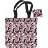 Torba na ramię + portfelik ST.RIGHT FLAMINGO PINK & BLACK