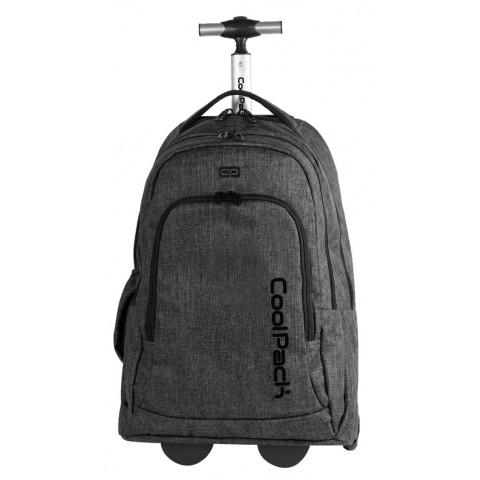Plecak na kółkach CoolPack CP SUMMIT snow grey 844 dla dorosłych - aż 36 litrów - walizka na kółkach