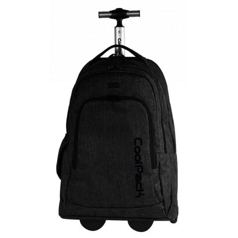 Plecak na kółkach CoolPack CP SUMMIT snow BLACK 863 czarny dla pracujących, dla studentów